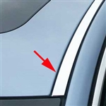 Jaguar XF Chrome Roof Insert Trim, 2009, 2010, 2011, 2012, 2013, 2014, 2015