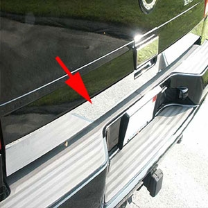 Cadillac Escalade Chrome Rear Deck Trim, 2002, 2003, 2004, 2005, 2006