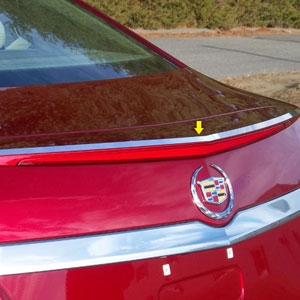 Cadillac CTS Sedan Chrome Spoiler Trim, 2014, 2015, 2016
