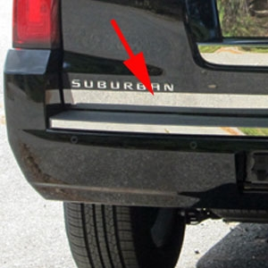 Chevrolet Suburban Chrome Tailgate Trim, 2015, 2016