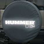 Hummer H2 Soft Spare Tire Cover with Reflective Logo, 2002, 2003, 2004