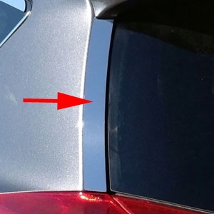 Toyota Rav4 Chrome Rear Window Accent Trim, 2013, 2014, 2015, 2016, 2017, 2018