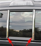 Toyota Tacoma Chrome Rear Window Pillar Trim, 2016, 2017