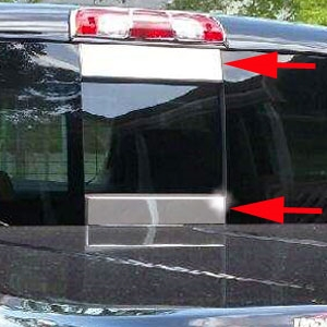 GMC Sierra Rear Window Accent Trim, 2014, 2015, 2016, 2017, 2018