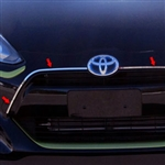Toyota Prius C Chrome Grille Accent Trim, 2012, 2013, 2014, 2015, 2016