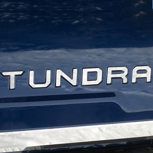 Toyota Tundra Rear Tailgate Chrome Letters, 2014