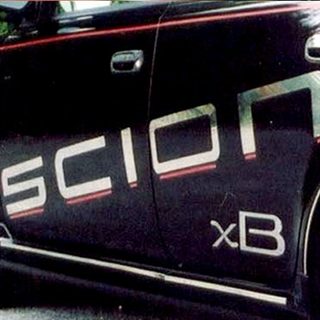 Scion xB Chrome Side Lettering, 2004, 2005, 2006, 2007