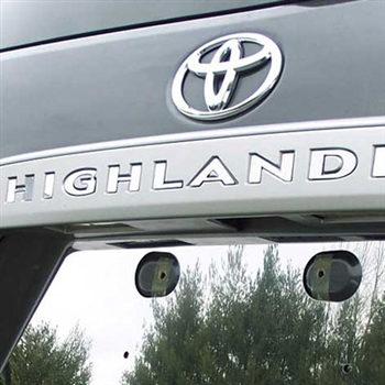 Toyota Highlander License Bar Chrome Letter Inserts, 10pc. Set,  2008, 2009, 2010, 2011, 2012, 2013