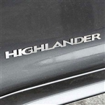 Toyota Highlander Chrome Emblems