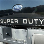 Ford Super Duty Tailgate Chrome Letter Set, 2008, 2009, 2010, 2011, 2012, 2013, 2014, 2015, 2016