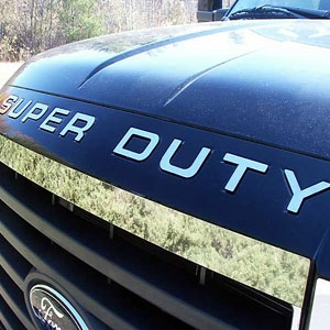 Ford Super Duty Front Hood Chrome Letter Inserts, 2008, 2009, 2010, 2011, 2012, 2013, 2014, 2015, 2016