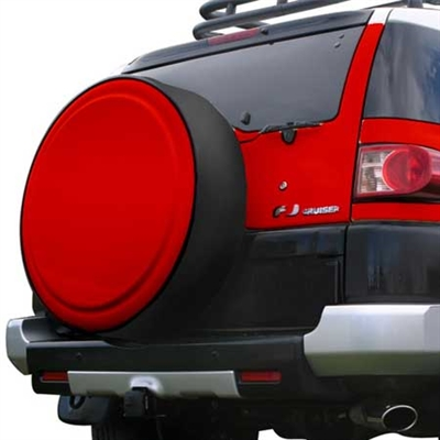Toyota FJ Cruiser Painted Rigid Spare Tire Cover with Black Ring, 2006, 2007, 2008, 2009