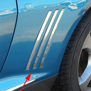 Chevrolet Camaro Chrome Side 'Shark' Trim, 2010, 2011, 2012, 2013, 2014