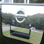 Nissan Titan Chrome Tailgate Handle and Surround Trim, 2pc. Set, 2004, 2005, 2006, 2007, 2008, 2009, 2010, 2011, 2012, 2013