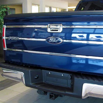 Ford F150 Chrome Tailgate Insert Trim, 2009, 2010, 2011, 2012, 2013, 2014