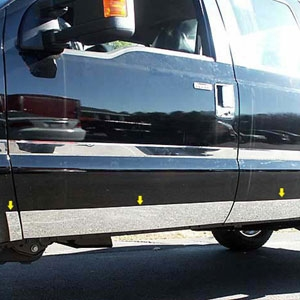 Ford Super Duty Chrome Rocker Panel Trim, 2008, 2009, 2010, 2011, 2012, 2013, 2014, 2015, 2016