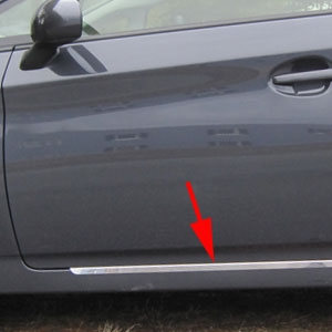 Toyota Prius Rocker Panel Trim (below door), 2010, 2011, 2012, 2013, 2014, 2015