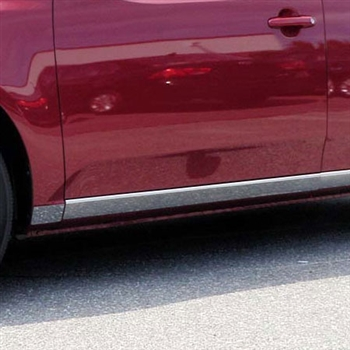 Kia Forte Chrome Rocker Panel Set, 2010, 2011, 2012, 2013