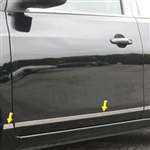 Nissan Versa Sedan Chrome Rocker Panel Trim (upper door), 2012, 2013, 2014, 2015, 2016