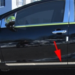 Toyota Prius C Chrome Rocker Panel Trim (lower door), 2012, 2013, 2014, 2015, 2016