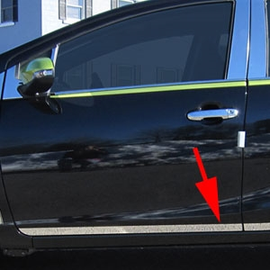 Toyota Prius C Chrome Rocker Panel Trim (lower door), 2012, 2013, 2014, 2015, 2016, 2017