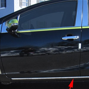 Toyota Prius C Rocker Panel Trim (below door), 2012, 2013, 2014, 2015, 2016, 2017
