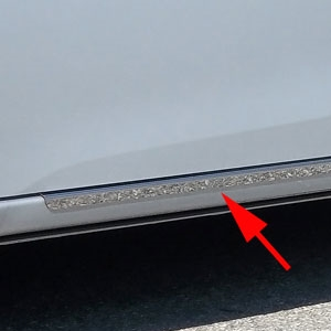 Toyota Corolla Rocker Panel Trim (below door), 2014, 2015, 2016