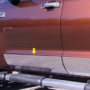 Toyota Tundra Chrome Rocker Panel Trim, 2014, 2015, 2016, 2017