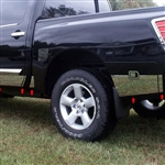 Nissan Titan Crew Cab Rocker Panel Set (with rear cargo box), 2004, 2005, 2006, 2007, 2008, 2009, 2010, 2011, 2012, 2013, 2014