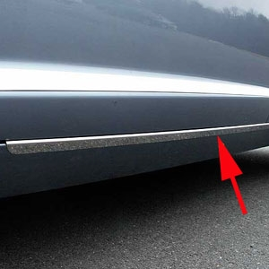 Jaguar XF Chrome Rocker Accent Trim, 2009, 2010, 2011, 2012, 2013, 2014, 2015