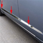 Jaguar XF Chrome Door Molding Insert Trim, 2009, 2010, 2011, 2012, 2013, 2014, 2015