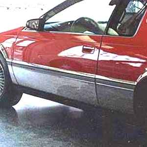 Cadillac Eldorado Chrome Rocker Panel Set, 1992, 1993, 1994