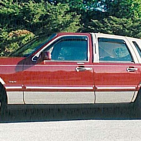 Lincoln Town Car Chrome Rocker Panel Set 8pc 1995 1997