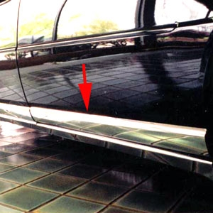 Cadillac Seville Chrome Rocker Panel Trim, 8pc. Set, 1998, 1999, 2000, 2001, 2002, 2003, 2004