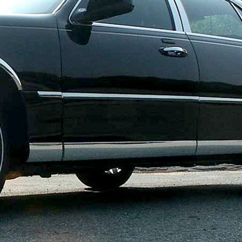 Lincoln Town Car Chrome Rocker Panel Set, 8pc 1998-2011