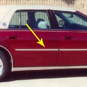 Cadillac Deville Dts Dhs Chrome Door Molding Trim 2000