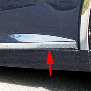 Cadillac STS Chrome Rocker Panel Trim, 6 piece set, 2005, 2006, 2007, 2008, 2009, 2010, 2011