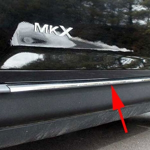 Lincoln MKX Chrome Lower Side Accent Trim, 2007, 2008, 2009, 2010