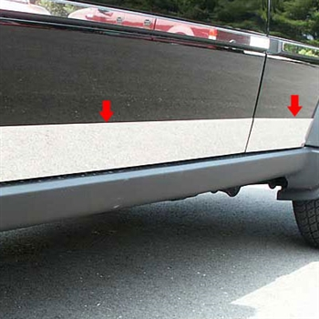 Dodge Nitro Chrome Rocker Panel Trim, 6pc 2007-2011