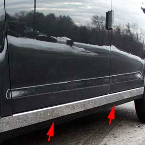 Chevrolet Malibu Chrome Rocker Panel Trim Set, 4pc 2008-2012