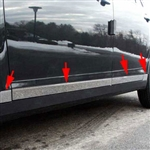 Chevrolet Malibu Chrome Rocker Panel Trim (lower door 8pc set), 2008, 2009, 2010, 2011, 2012