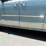 Dodge Grand Caravan Chrome Rocker Panels, 2008, 2009, 2010, 2011, 2012, 2013, 2014, 2015, 2016, 2017, 2018