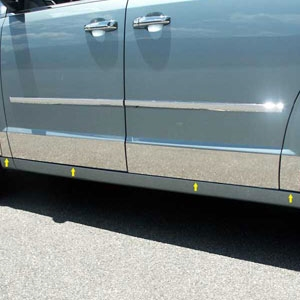 Dodge Grand Caravan Chrome Rocker Panels, 2008, 2009, 2010, 2011, 2012, 2013, 2014, 2015, 2016
