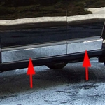 Dodge Journey Chrome Rocker Panels, 2009, 2010, 2011, 2012, 2013, 2014, 2015, 2016, 2017, 2018