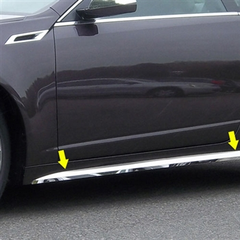 Cadillac CTS Coupe Chrome Rocker Panel Trim, 2011, 2012, 2013, 2014