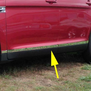 Ford Taurus Chrome Rocker Panels, 2010, 2011, 2012, 2013, 2014, 2015