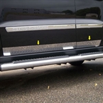 Jeep Grand Cherokee Chrome Rocker Panel Trim, 2011, 2012, 2013, 2014, 2015, 2016, 2017