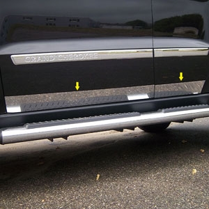 Jeep Grand Cherokee Chrome Rocker Panel Trim, 2011, 2012, 2013, 2014, 2015, 2016