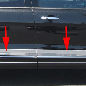 Ford Explorer Chrome Rocker Panel Trim, 2011, 2012, 2013, 2014, 2015, 2016, 2017