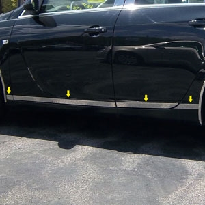 Buick Regal Chrome Rocker Panel Trim (lower door) 2011, 2012, 2013, 2014, 2015, 2016, 2017